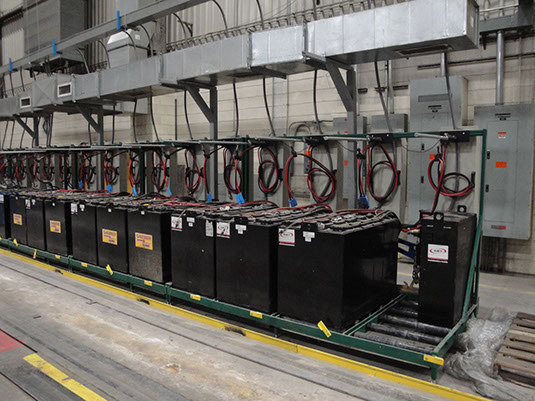 Service Battery Charging System >> Mobility Equipment and Design - FORKLIFT BATTERY CHARGING, CHANGING, AND STORAGE SOLUTIONS